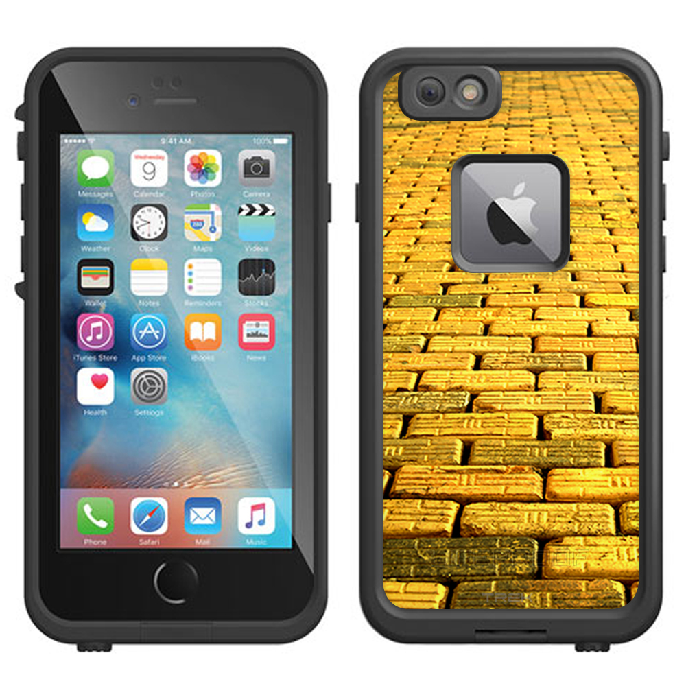 SKIN DECAL FOR LifeProof FRE Apple iPhone 6 Plus Case - Yellow Brick Road DECAL, NOT A CASE