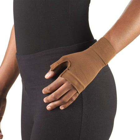 Truform Lymphedema Compression Gauntlet: 20-30 mmHg, Brown, Large (Compression Gauntlet)