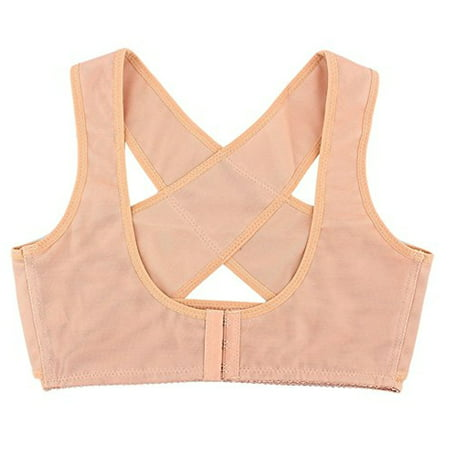 Brace Top (Women\'s Top-Quality Adjustable Underwear Lady Chest Breast Support Belt Band Posture Corrector Brace - L Nude)