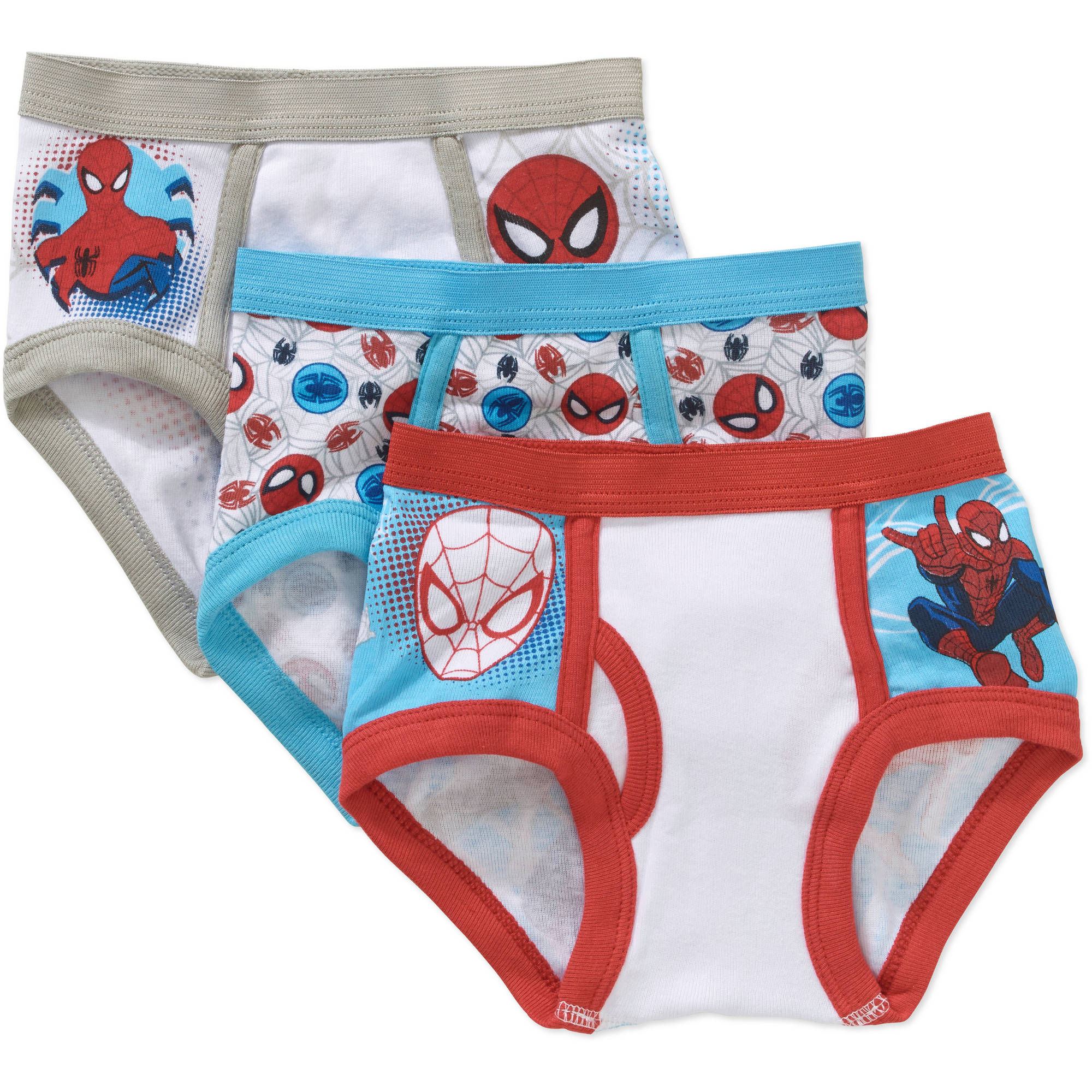 Spiderman Toddler Boys Underwear, 3-Pack