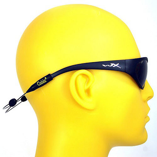 Cablz Zipz Adjustable Sunglasses Holder, Black