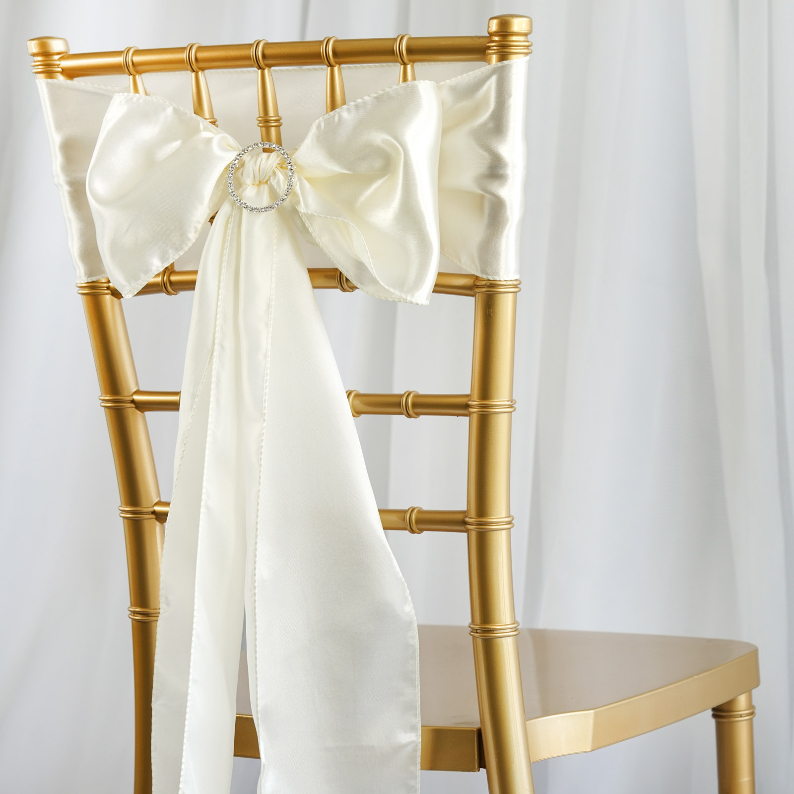 BalsaCircle 5 New Satin Chair Sashes Bows Ties - Wedding Party Ceremony Reception Event Decorations Unique Supplies