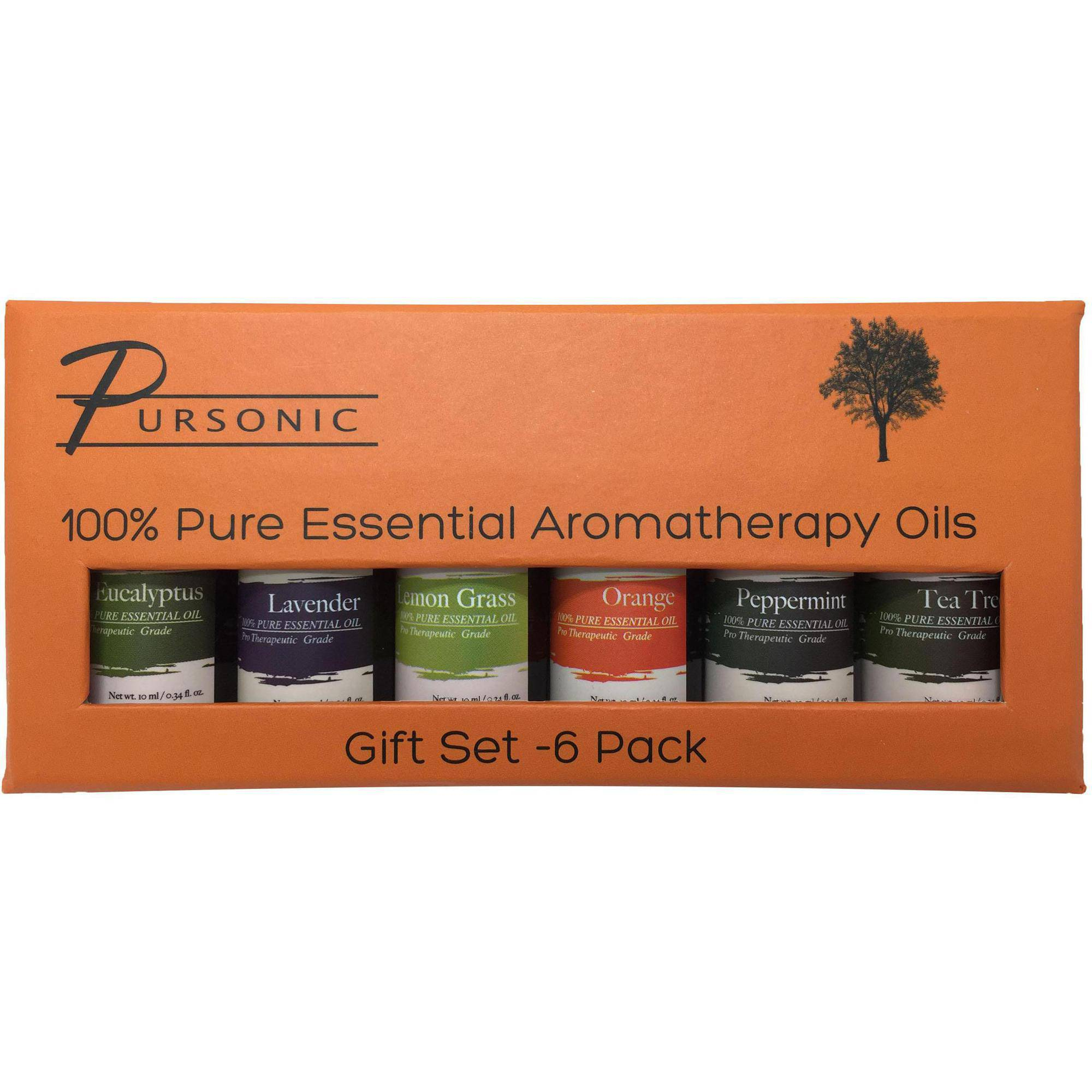 Pursonic Pure Essential Aroma Oils, 6-Pack