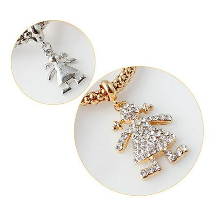3pcs/set Crystal The little Girl Doll Rhinestone Bracelet & Bangle Elastic Bracelets - image 4 of 8