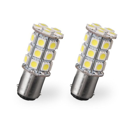 Led Automotive Light 2pcs 1157 BAY15D 5050 27-SMD Tail Turn Signal Blinker Pure White Light Bulbs 7528 2057