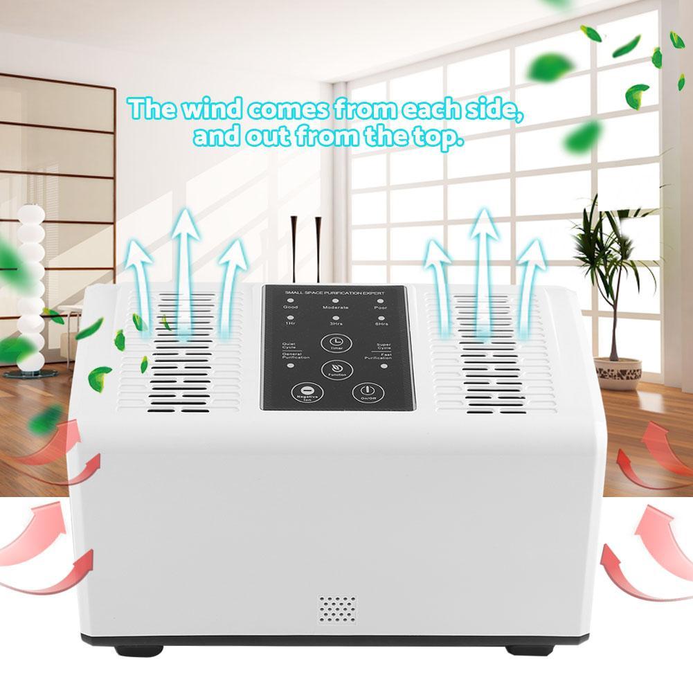 Hilitand Air Purifier Freshener Double-core Negative Ions Smoke Removal Deodorization, Deodorization White Air Purifier, Smoke Removal Air Purifier(US Plug 110-240V)