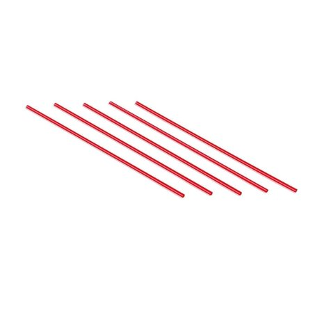 Plastic Coffee Stirrers Red Straws - by Plastible Cocktail Drink Sip Stir Sticks For Bars Cafes Restaurants Home Use (2000, 7.5 inches)
