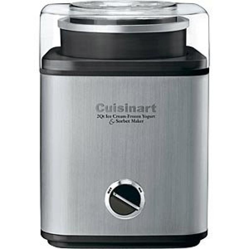 Cuisinart Pure Indulgence 2-Quart Automatic Frozen Yogurt, Sorbet, and Ice Cream Maker, Black