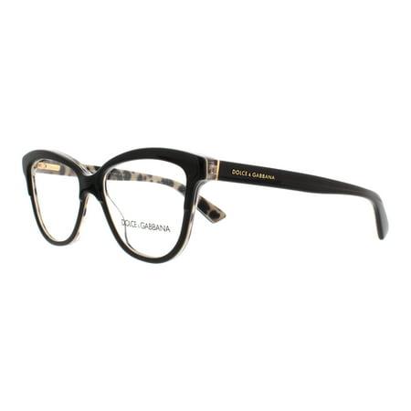 fd2c037138be DOLCE & GABBANA Eyeglasses DG 3229 2857 Black On Leo 52MM - Walmart.com