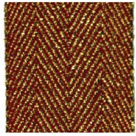 - Papillon Ribbon & Bow R09687B-25-0250-GOLD 1 in. 25 Yards Herringbone Glitter Ribbon, Red & Gold