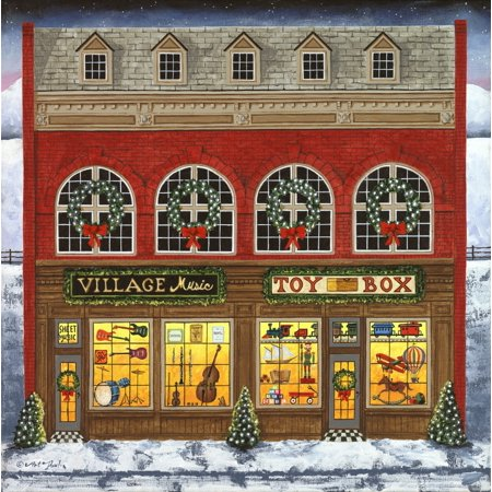 Christmas Village - Music And Toy Building Poster Print by Art Poulin