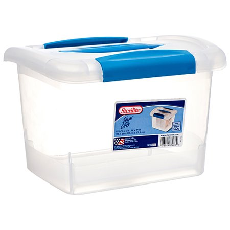 New 369898  Sterilite 1872 Storage Container W / Blue Lid (6-Pack) Laundry Accessories Cheap Wholesale Discount Bulk Household Laundry Accessories Fashion
