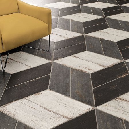 Somertile Xinch Lambris Naveta Cendra Porcelain Floor - 13 inch floor tiles