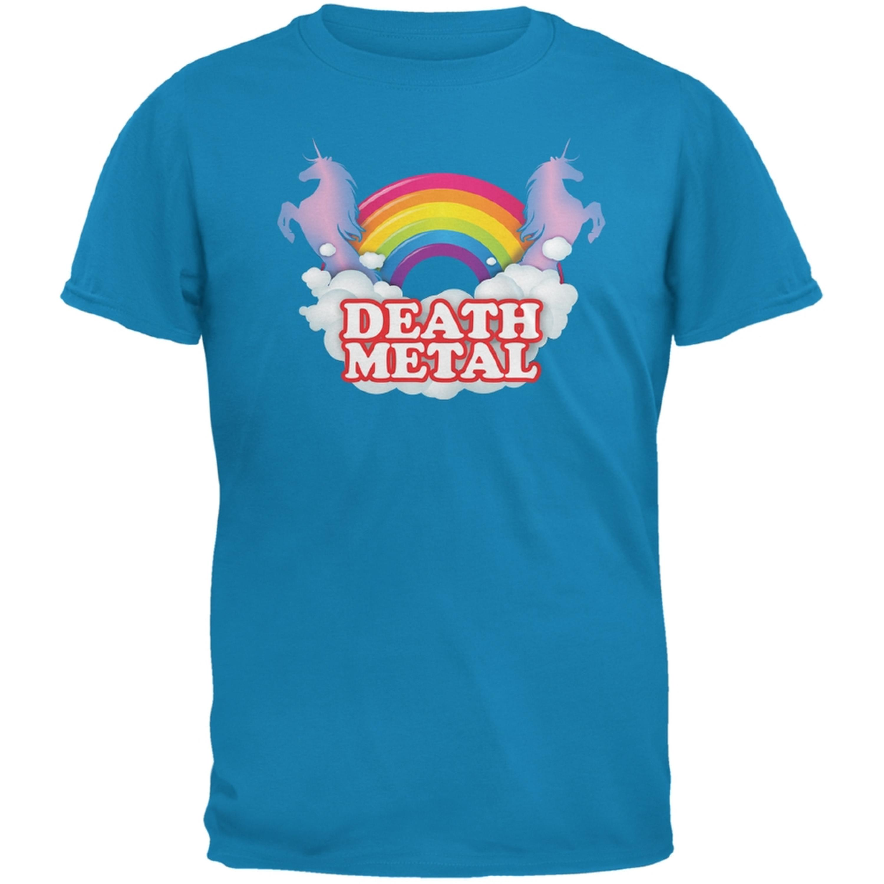 Death Metal Rainbow Sapphire Blue Adult T-Shirt