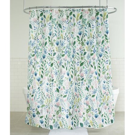Bungalow Rose Tekamah Floral Fabric Single Shower Curtain