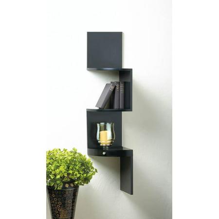 3 tier black corner shelf with drawer. Black Bedroom Furniture Sets. Home Design Ideas