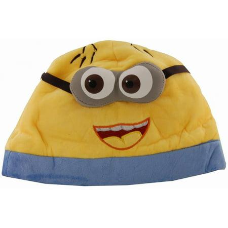 Despicable Me 2 Eyed Open Mouth Minion Jorge Adult Beanie (Despicable Me Minion Hat)