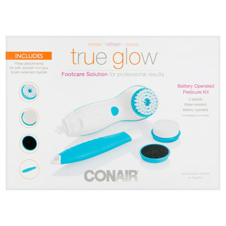 Conair True Glow Battery Operated Footcare Solution Pedicure Kit
