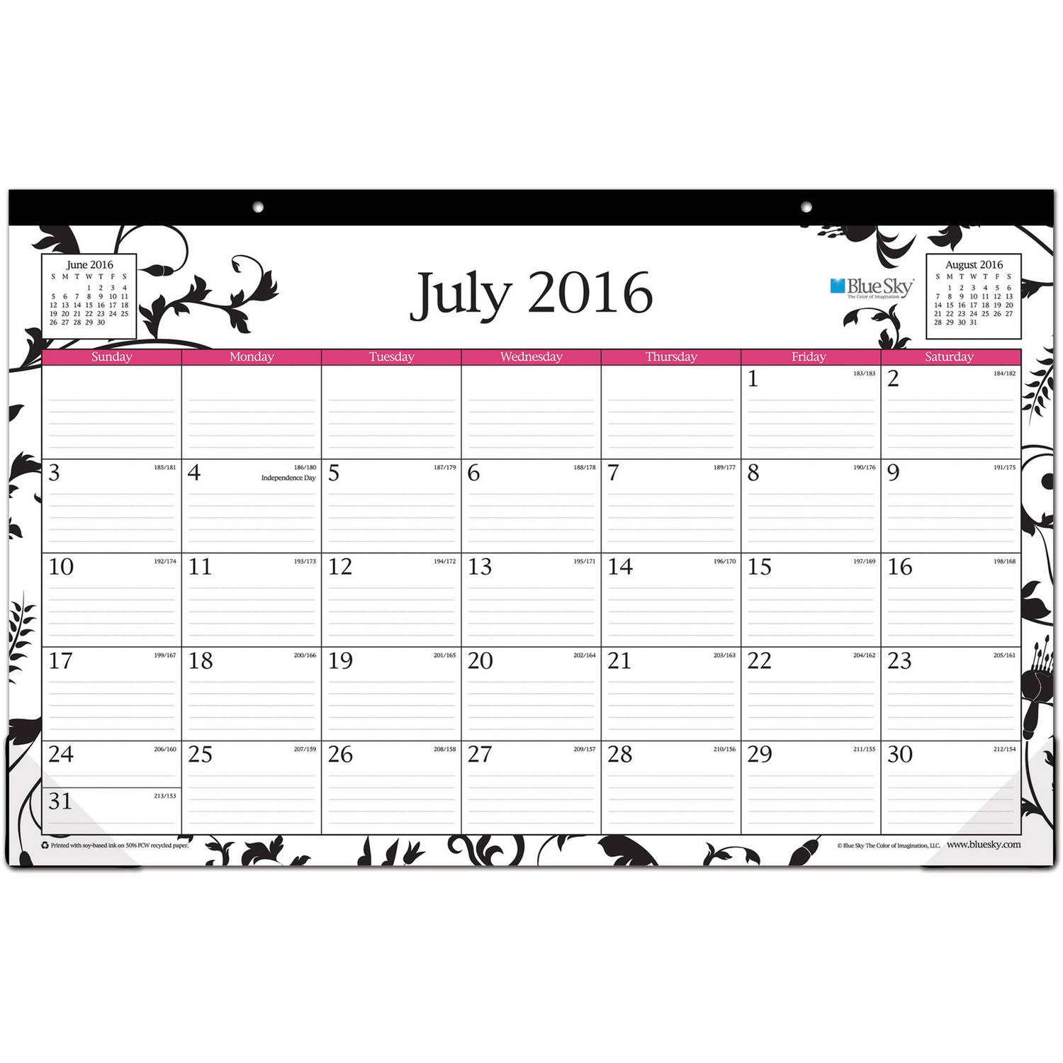 "Blue Sky Analeis Academic Year 2016-2017 Monthly 17"" x 11"" Desk Pad Calendar"