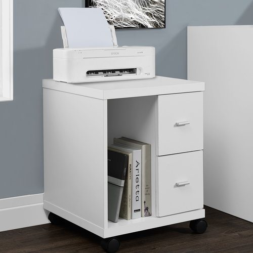 Monarch Office Cabinet Cappuccino 2 Drawer On Castors