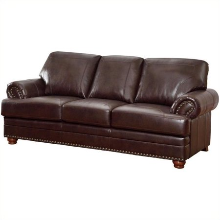 Coaster Company Colton Sofa, Brown Breathable Leatherette ()