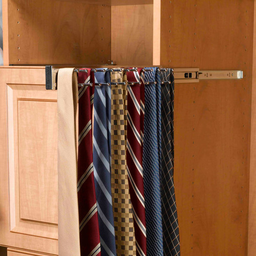 Rev-A-Shelf Pull-Out Side Mount Tie Rack
