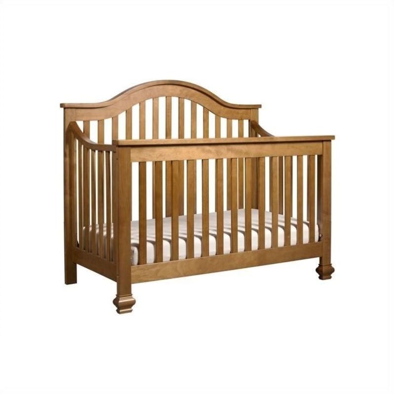 DaVinci Clover 4-in-1 Convertible Crib in Chestnut with Crib Mattress by DaVinci Baby