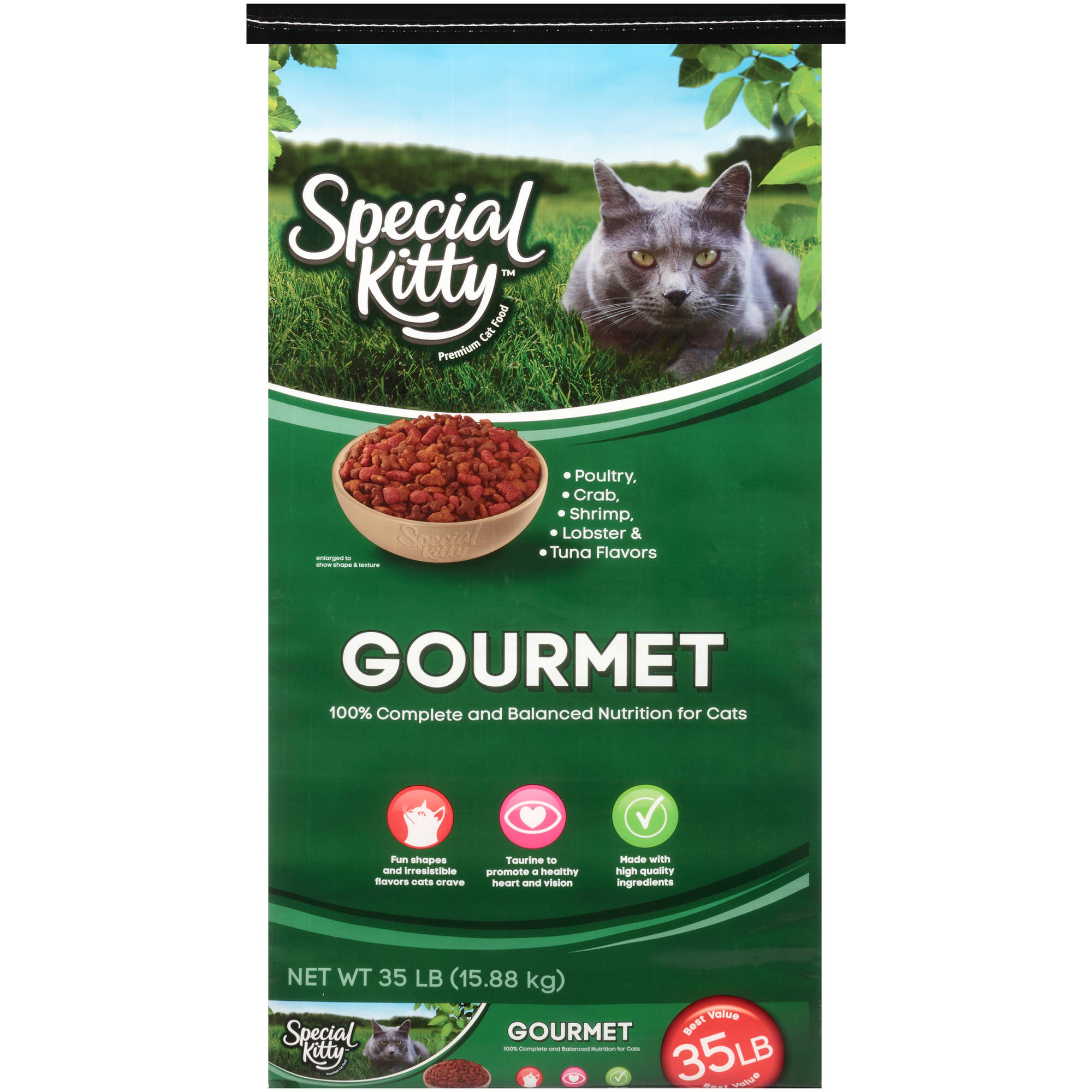Special Kitty Gourmet Dry Cat Food, 35 lbs