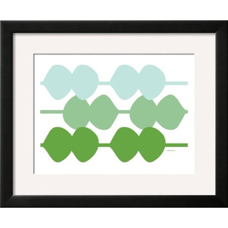 Avalisa Green - Green Design, no. 95 Framed Art Print Wall Art  By Avalisa - 22x18