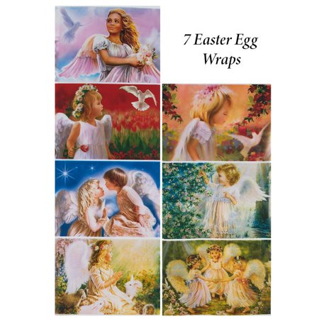 Set of 7 Angels and Nature Easter Egg (Egg Wraps)