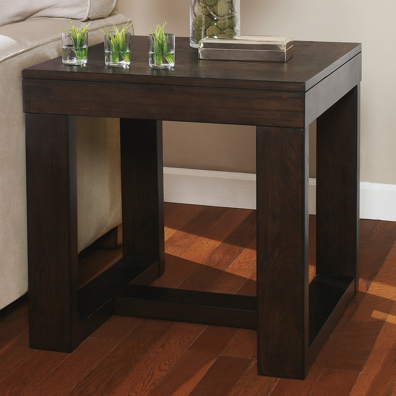 Signature Design By Ashley Watson Brown Square End Table
