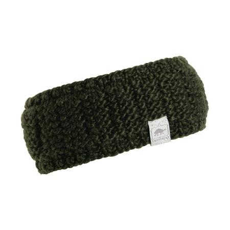 Turtle Fur Shay Women's Wide Hand Knit Headband Fully Lined - Fur Headband