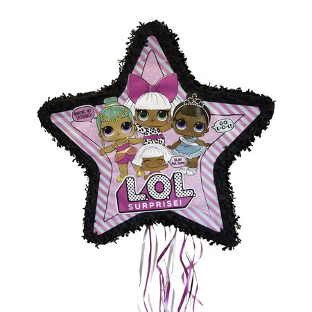 Guitar Pinata - LOL Surprise Pinata, Pull-String, 22.5 x 21.5 in, 1ct