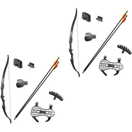 Crosman Archery Sentinel Long Bow, 2-pack Bundle (Crusader Bow)
