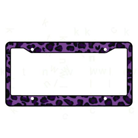 Plastic Animal Print License Plate Frame Made in USA - Leopard ...
