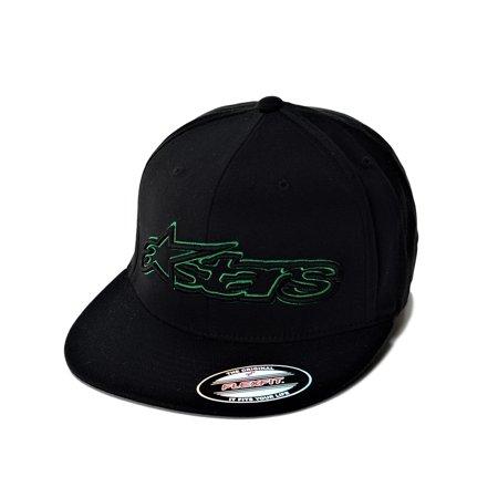 Alpinestars Mens Hat (Alpinestars Backlit Mens Flexfit Flat Bill Hat Black L/XL )