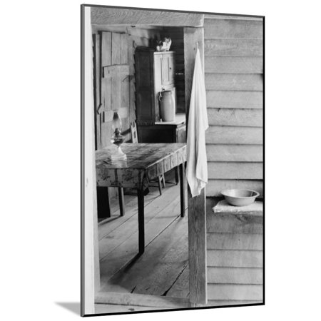 - Washstand in the Dog Run and Kitchen Wood Mounted Print Wall Art By Walker Evans