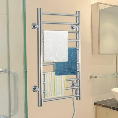 HomCom 10 Bar Stainless Steel Wall Mounted Electric Towel Warmer (Electric Floor Towel Warmer)