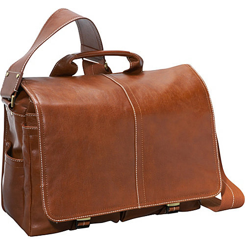 AmeriLeather Legacy Leather Woody Laptop Messenger Bag