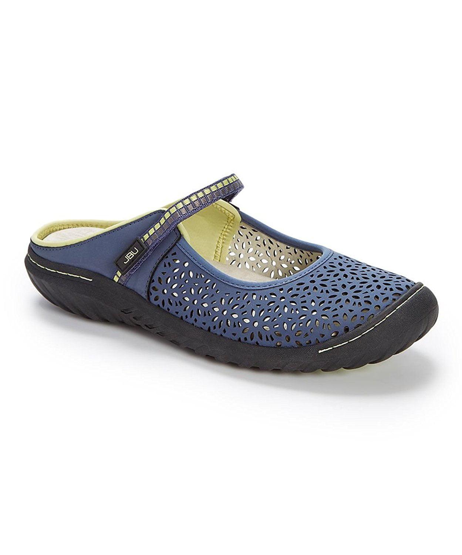 JBU Womens bellini Fabric Closed Toe Mules Denim Size 7.0
