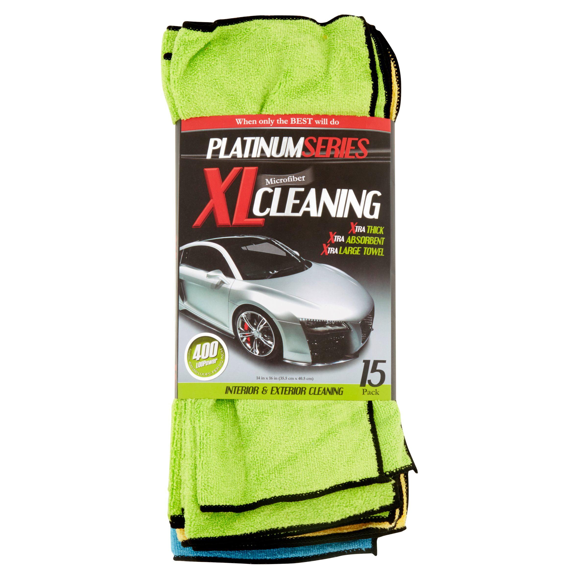 platinum series microfiber xl cleaning interior exterior platinum series microfiber xl cleaning interior exterior cleaning cloth 15 count walmart com