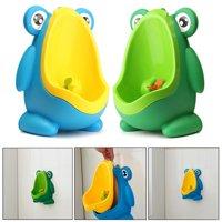 Portable Children Boy Kids Toilet Training Children Potty Pee Urine Home Bathroom Frog Shape Toilet Urinal
