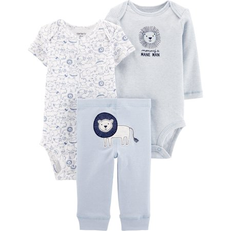Carters Baby Boys 3-pc. Mommy's Mane Man Lion Layette Set 16W Short