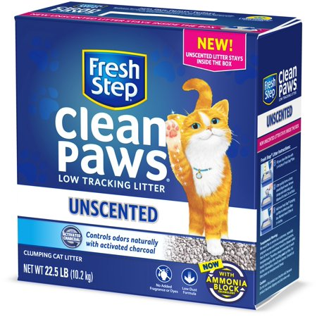 Fresh Step Clean Paws Unscented Clumping Cat Litter, 22.5 Pounds Booda Clean Step Cat