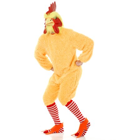 Rocking Rooster Yellow Chicken Adult Halloween Costume