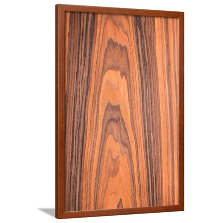 Texture Rosewood, Wood Texture Series, Natural Rural Tree Background Framed Print Wall Art By