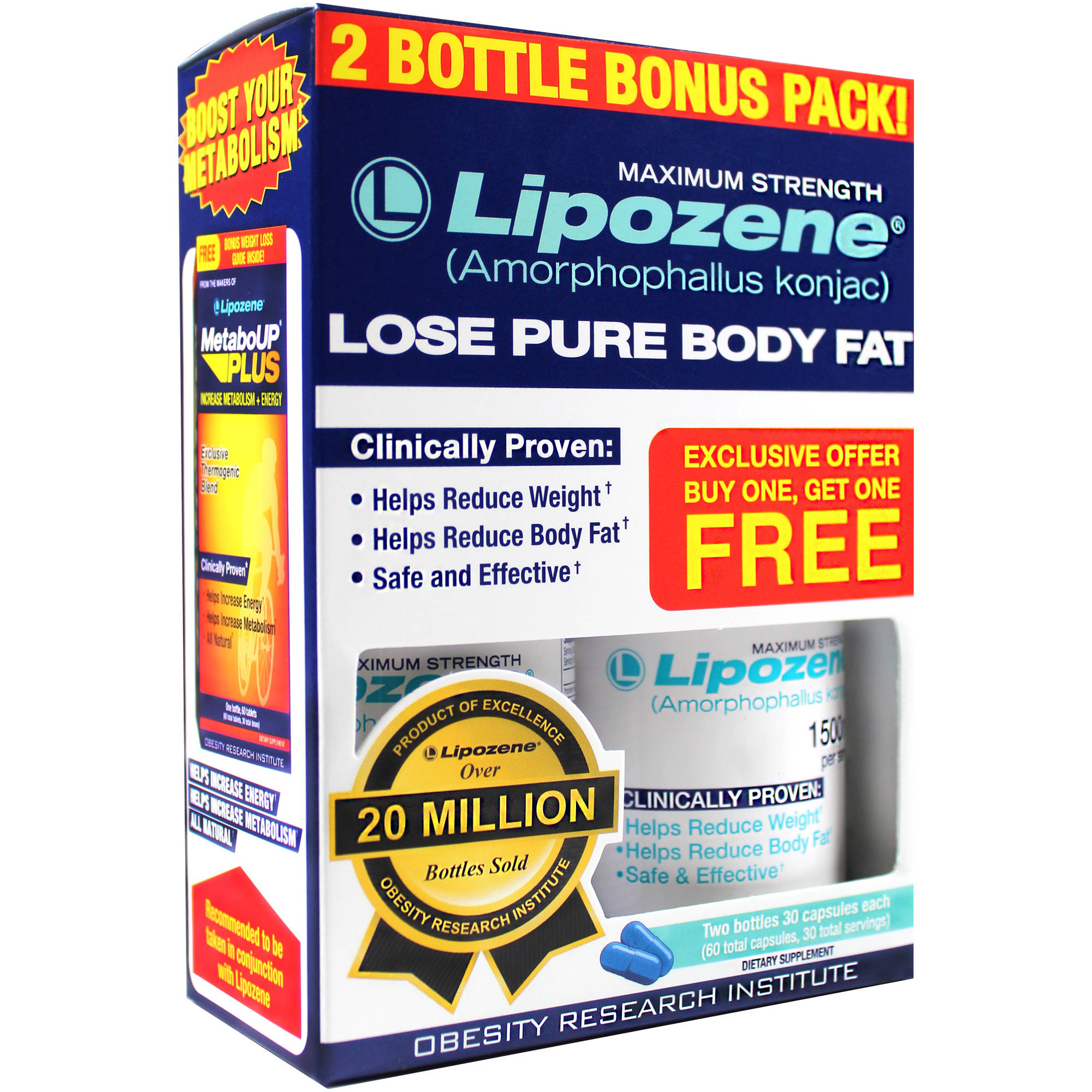 Lipozene Maximum Strength Capsules, 30 count, (Pack of 2)