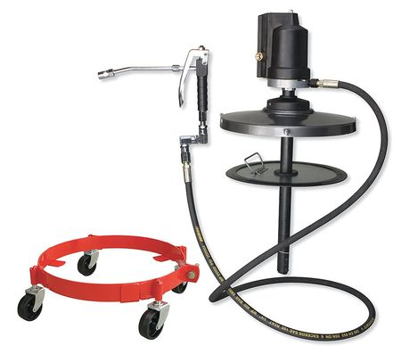Westward 29FW99 Brass, Nitrile, Polyurethane Rubber, Steel and 7 ft.L Portable Grease Pump with Gun