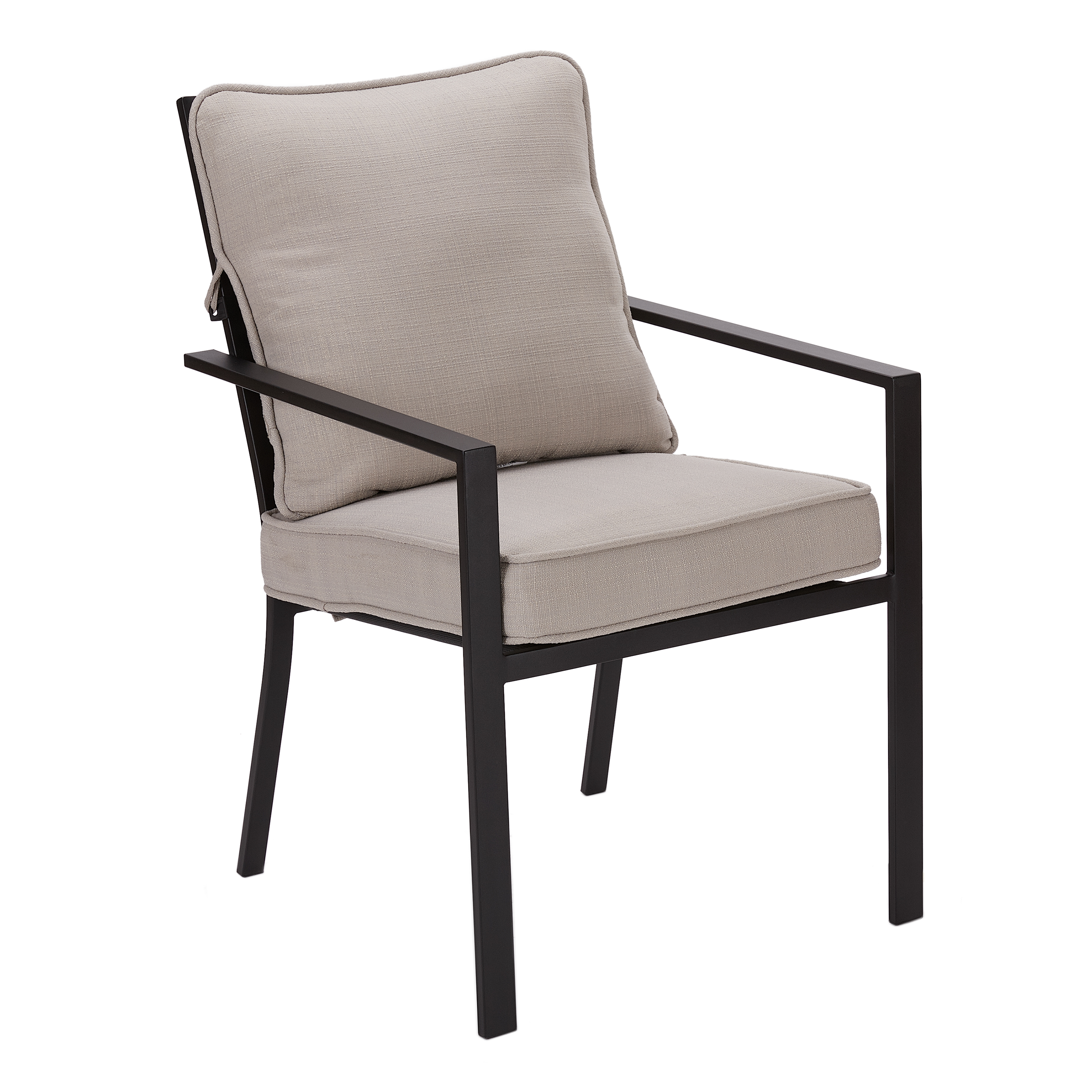 Mainstays Richmond Hills Patio Dining Chairs with Gray Cushions, Set of 4