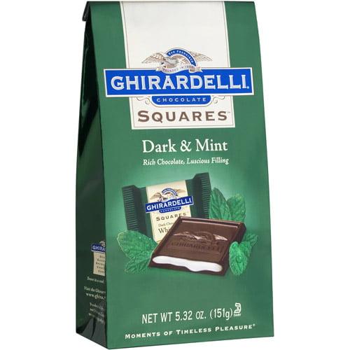 Ghirardelli Chocolate Squares Dark & Mint Dark Chocolate, 5.32 oz